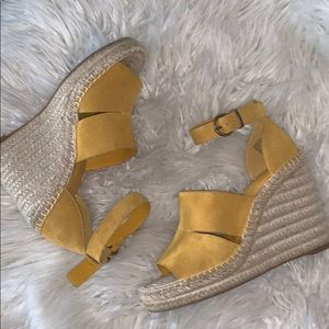 Treasure& bond suede leather wedges sz 8m